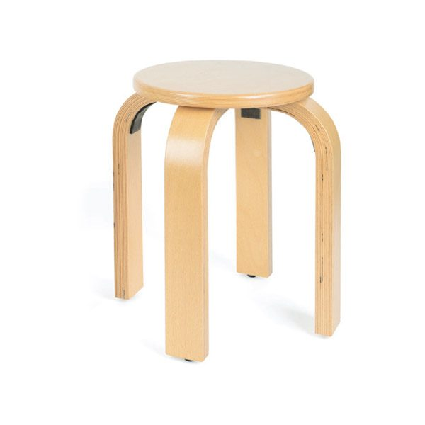 stool (large)-size-one-2-3yrs wooden plywood beech chair for schools and classrooms