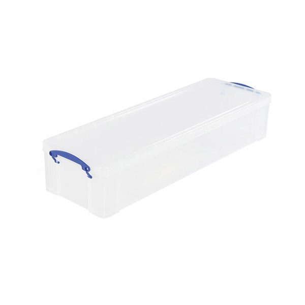 Storage box 22 litres transparent with lid and handles