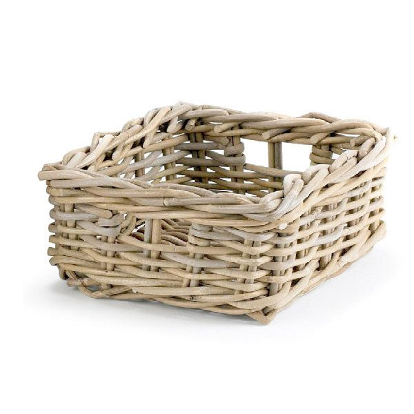 Rattan baskets natural woven storage boxes
