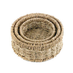 Set of Round Seagrass Baskets