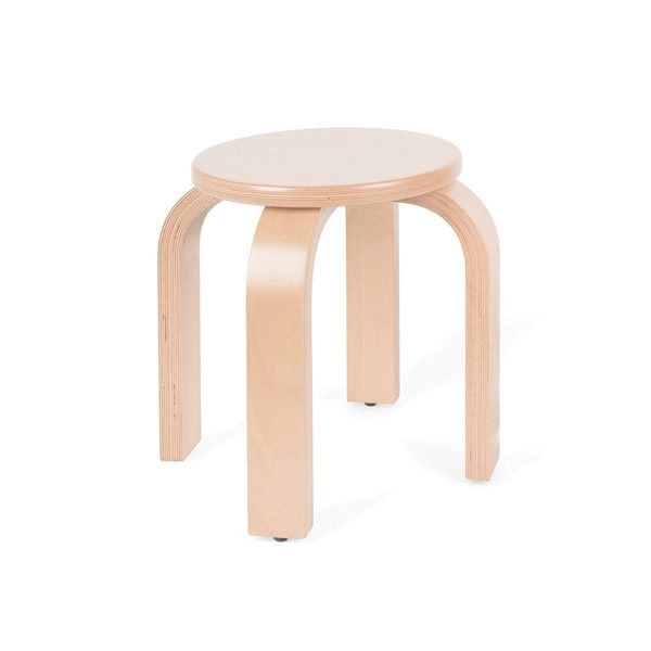Stool (small) (size two - H31cm) wooden beech plywood chair for classroom seating wipeable strong durable sturdy wood