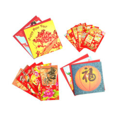 Set of Chinese Cards and Envelopes