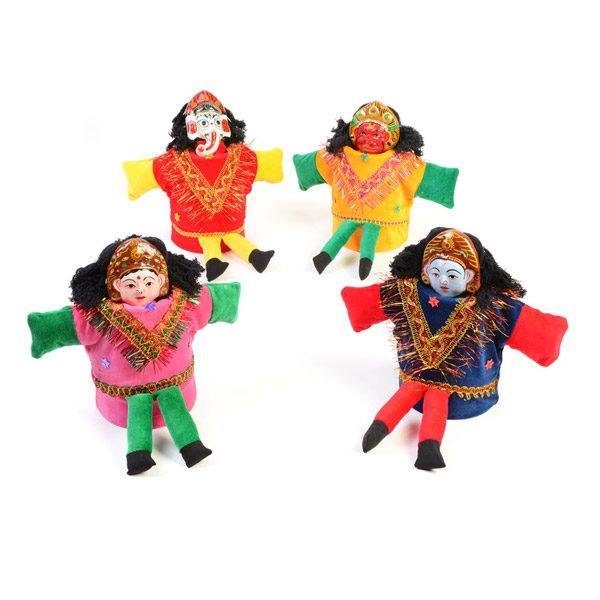 Set of 4 Hindu Puppets