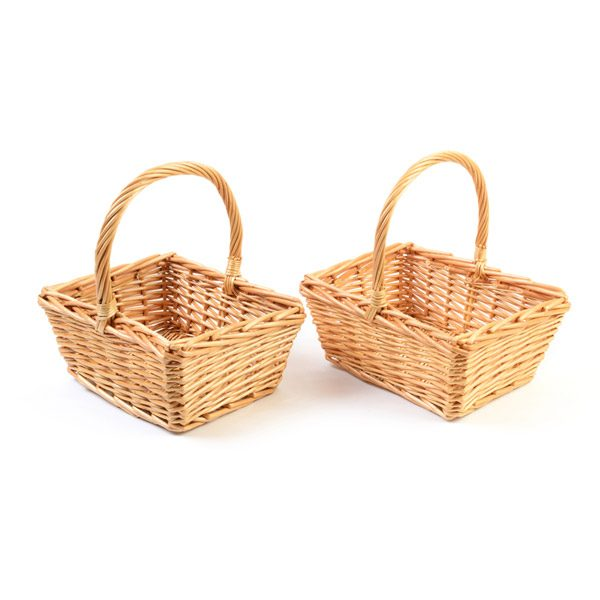 Set of Willow Shopper Small Handled Baskets