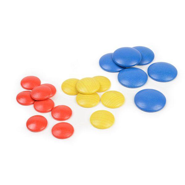 Set of Wooden Coloured Discs