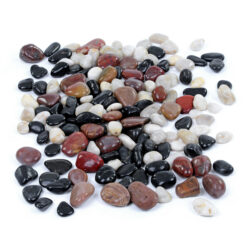 Set of Mixed River Gems Stones Pebbles Natural Play