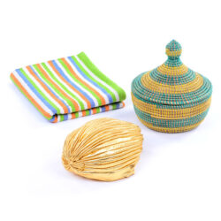 Turban, Basket Pot & Carpet Set