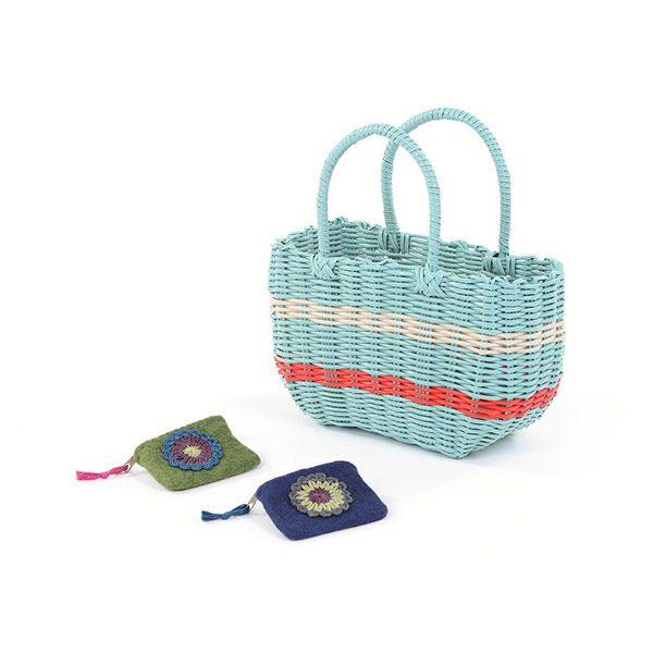 Woven Basket & Purses Set