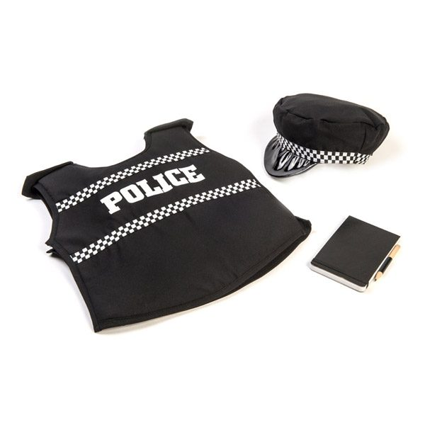 Police Jacket, Hat & Notebook