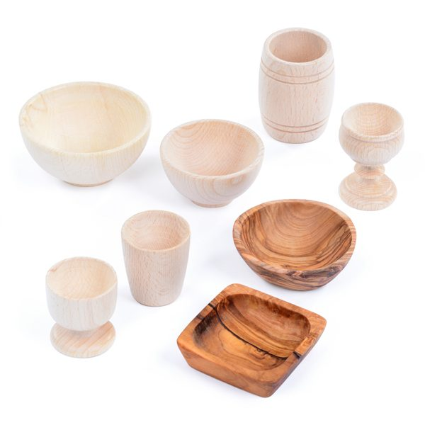 Set of Wooden Containers