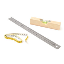 Spirit Level, Rule and Tape Measure Woodwork Spirit Level, Ruler and Tape Measure