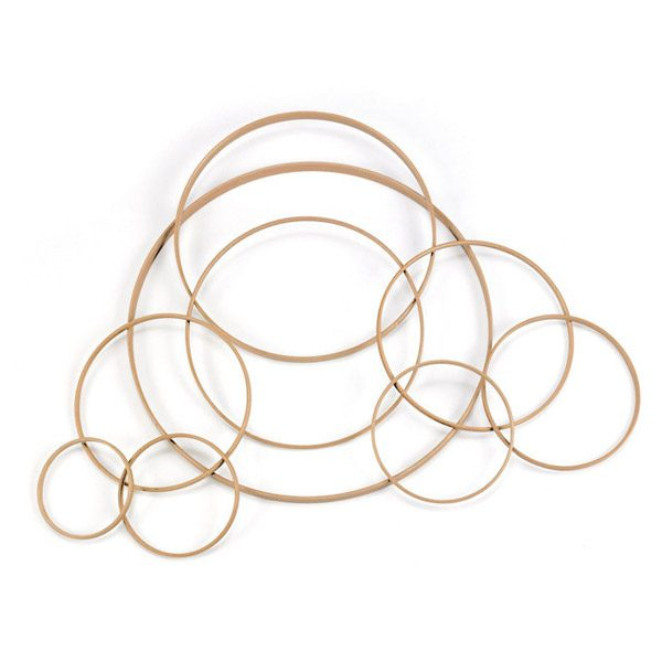 Set of Weaving Rings in Natural Wood