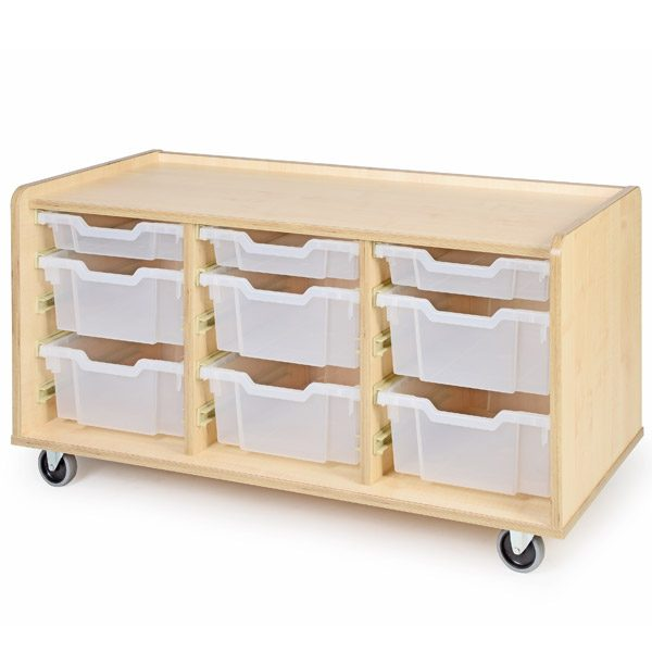 Mobile Tray Storage Unit - Medium and Shallow Trays