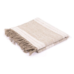 Large Natural Striped Rug