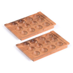 Set of Wooden Egg Trays