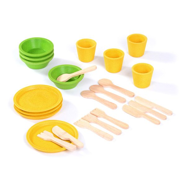 Wooden Tea Set (24 pc)