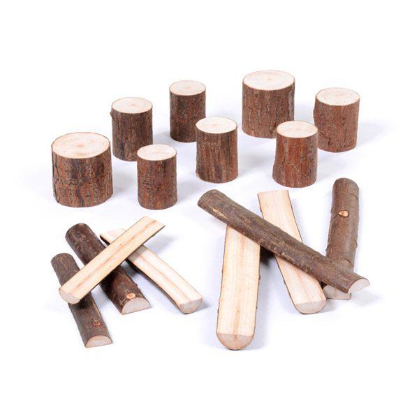 Set of Wooden Blocks & Logs