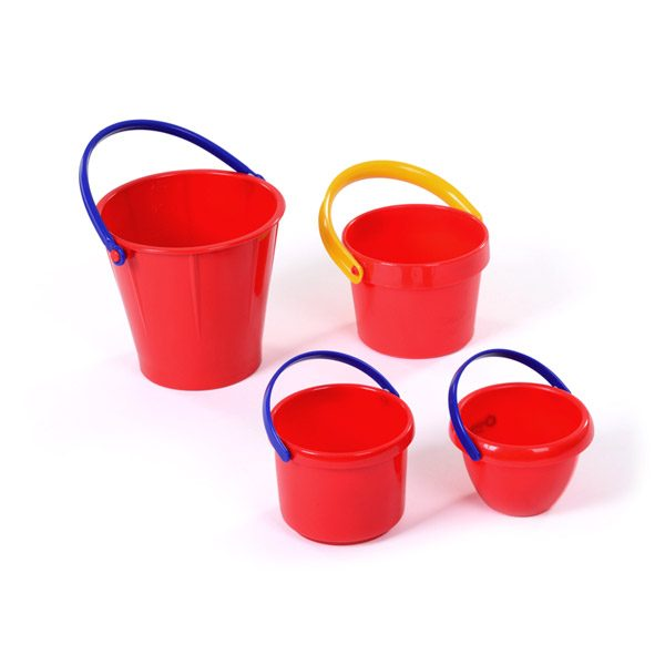 Set of Red Buckets