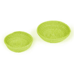 Set of 2 Lime Green Bowls Sand in Miniature Storage Collection