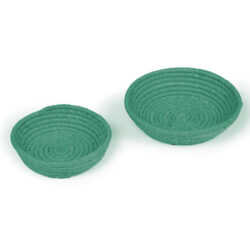 Set of 2 Turquoise Bowls 2 Dark Green Bowls