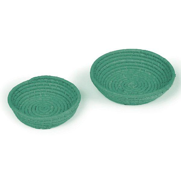 2 Dark Green Bowls