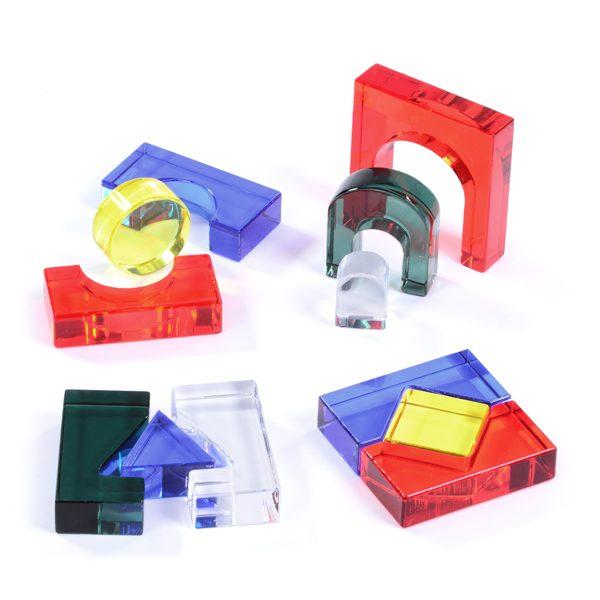 Set of Coloured Acrylic Blocks