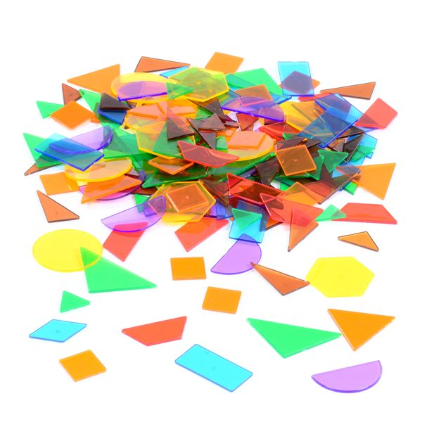Set of Coloured Translucent Shapes