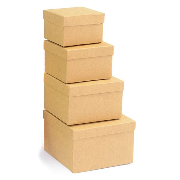 Set of Plain Card Boxes