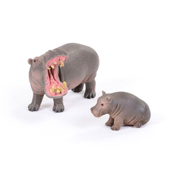 Hippopotamus Adult & Baby 1