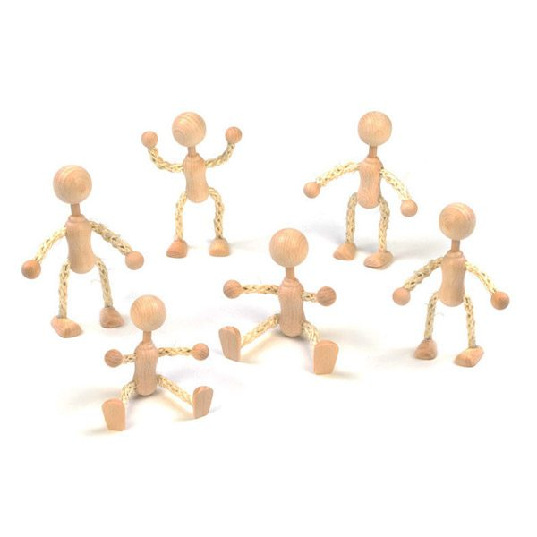 Set of 6 String People