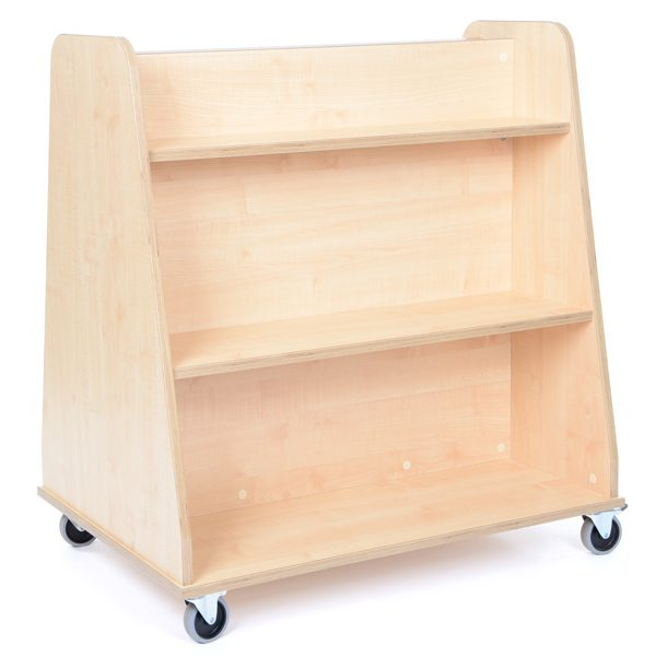 Mobile Double Sided Shelving Unit for resources in classrooms