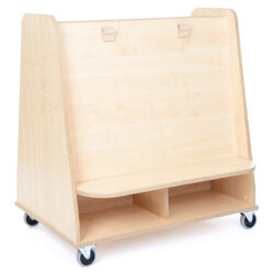 Mobile Double Sided Shelving Unit & Paint Easel for Art and Design areas