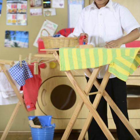 ironing laundry washing clothes line domestic household chores