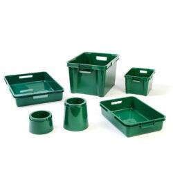 Dark Green Plastic Boxes, Trays & Pots