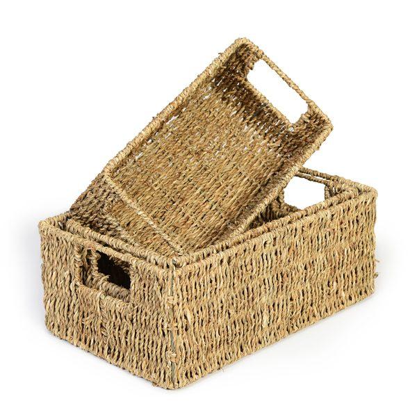 Set of 3 Deep Seagrass Baskets