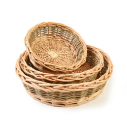 set of round willow baskets set of 3 round trays wicker storage baskets for pets sorting maths counting classroom activities