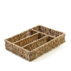 Organiser Seagrass Tray Storage Box Natural Woven Eco