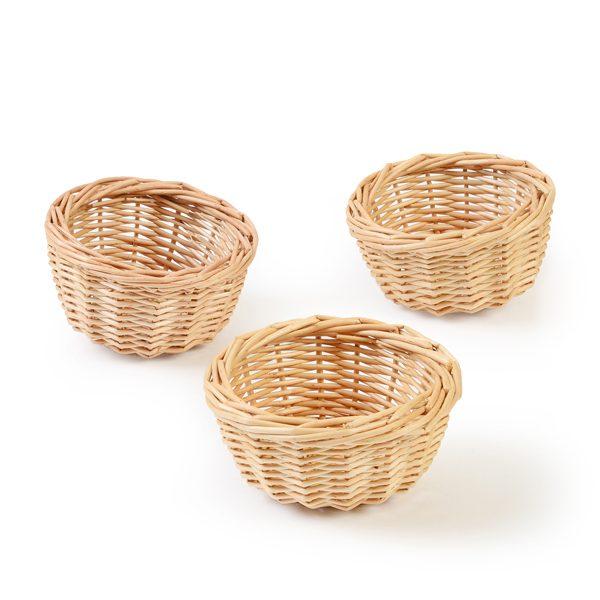 Set of 3 Cob Baskets