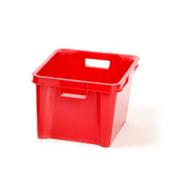 Red 1.5ltr Plastic Box