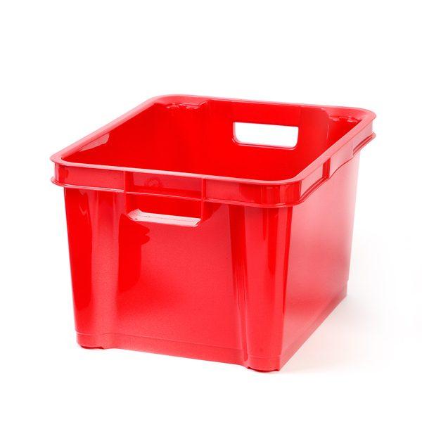 Red 7.5ltr Plastic Box