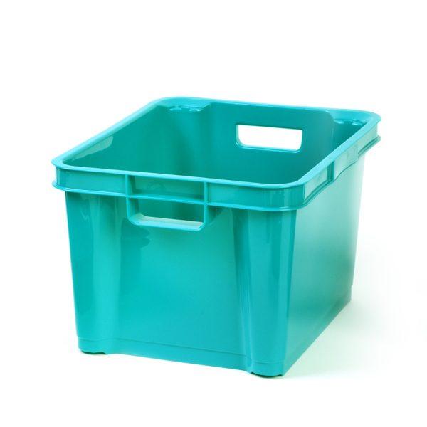 Turquoise 7.5ltr Plastic Box