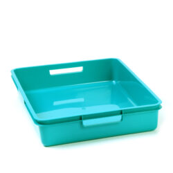 Turquoise A4 Plastic Tray