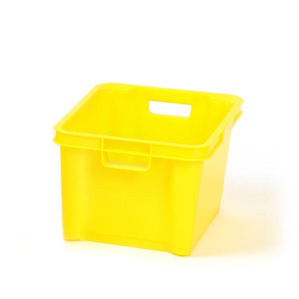 Yellow 1.5ltr Plastic Box