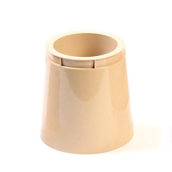 Natural Tall Plastic Pot Beige