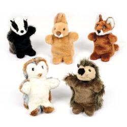 British Wild life Hand Puppet Set