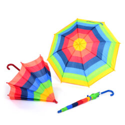 set of Rainbow Umbrellas for Outdoor Learning & Play, suitable for rain and sun