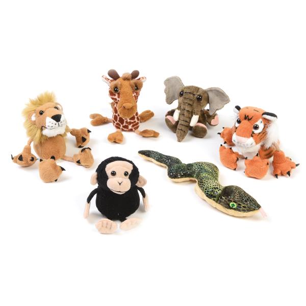 Wild Animal Finger Puppet Set 1
