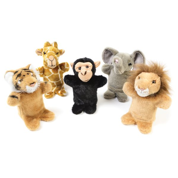 Wild Animal Hand Puppet Set