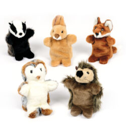 British Wildlife Hand Puppet Set