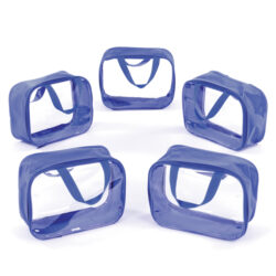 Set of 5 Small Going Home Bags - Small blue plastic learning bags with handle for children